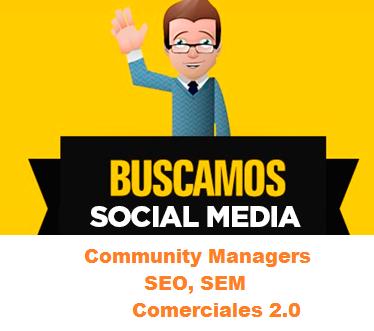 socialmedia, community manager, comerciales