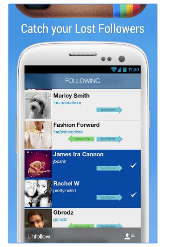 Las mejores apps para saber quién NO me sigue en Instagram.