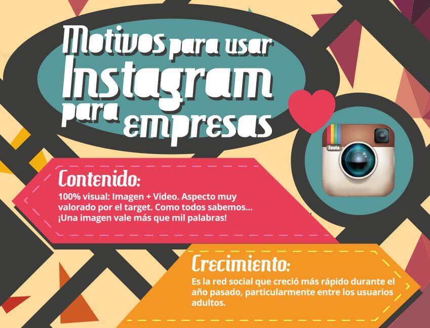 Grandes motivos para utilizar Instagram para tu negocio.