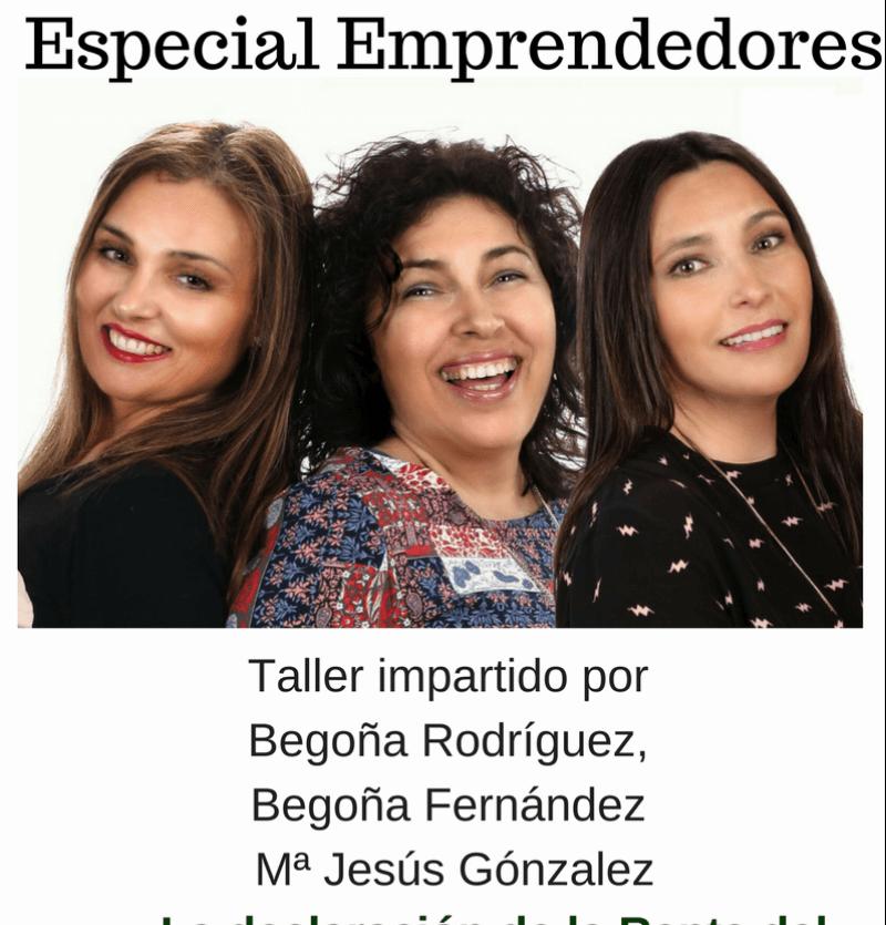 Taller especial emprendedores 3 Ponentes que te asesorarán.
