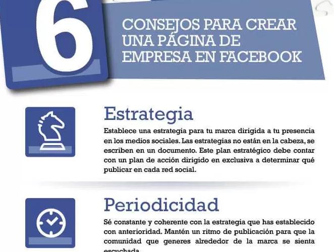 Consejos para crear una página de empresa en Facebook.