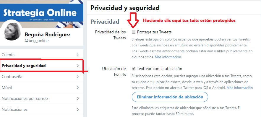Sabes que puedes proteger y desproteger tus Tweets.