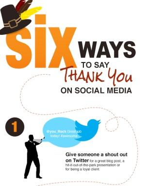 Sé agradecido en las Redes Sociales. 6 Formas de dar las gracias #Infografía