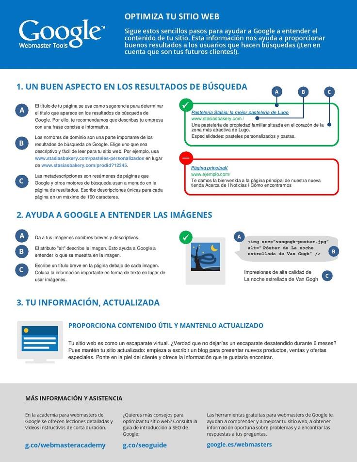 3 consejos que nos aporta Google para el SEO #Infografía