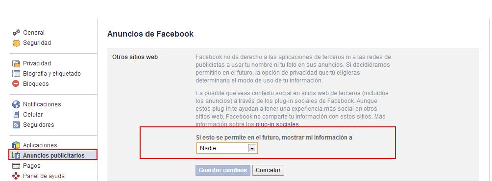 Evita que Facebook utilice tus fotos y vídeos