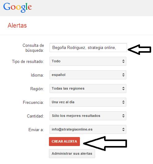 Como configurar Google Alerts y alertas en distintos partes del mundo