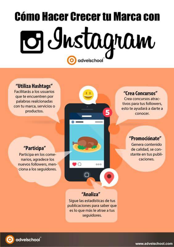 Consejos para hacer crecer tu marca en Instagram.