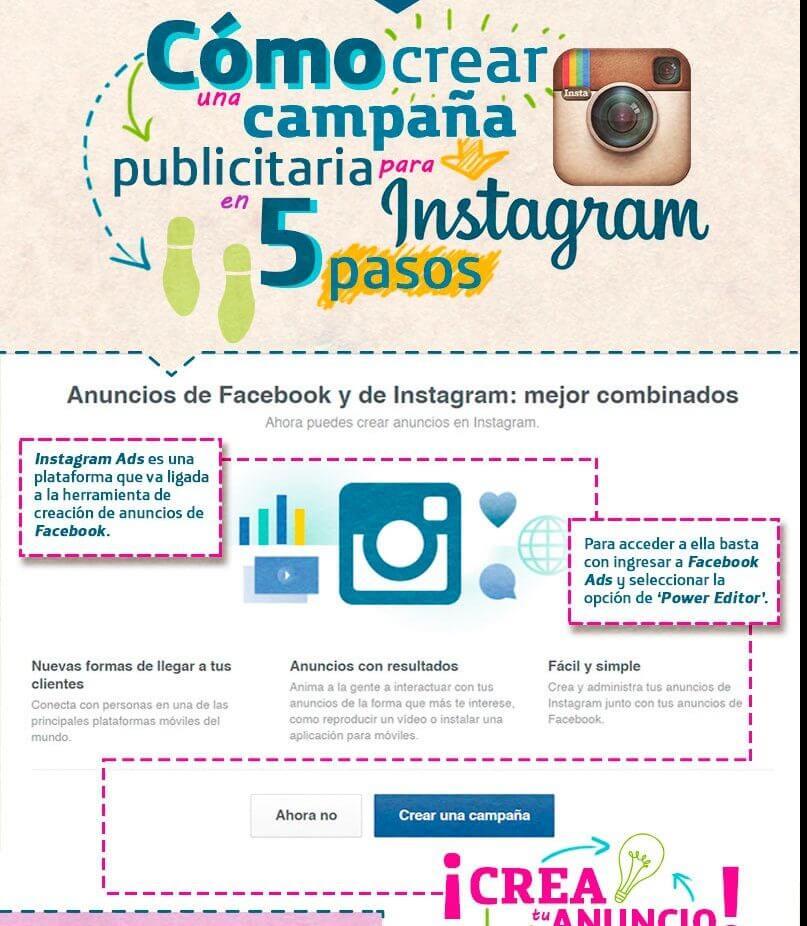 Crea campañas publicitarias efectivas en Instagram y Facebook.