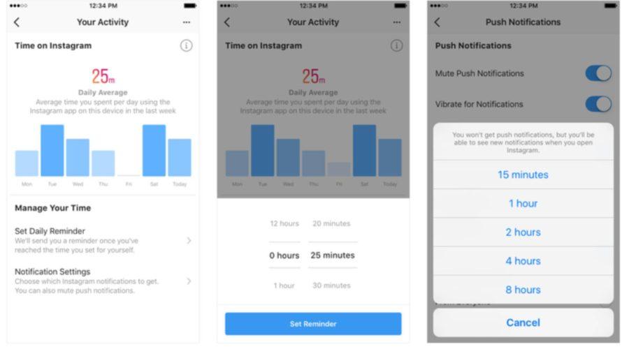 Instagram y Facebook crean alertas para saber el tiempo que pasas en las redes.
