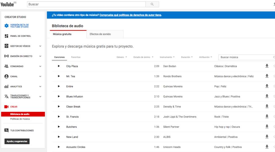 Herramientas para que tengas música libre para tus vídeos.